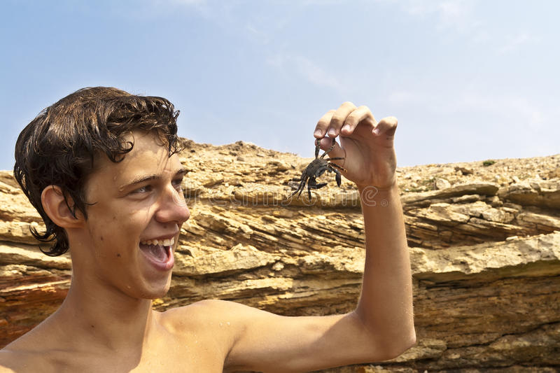 Crab On The Hand. Stock Image