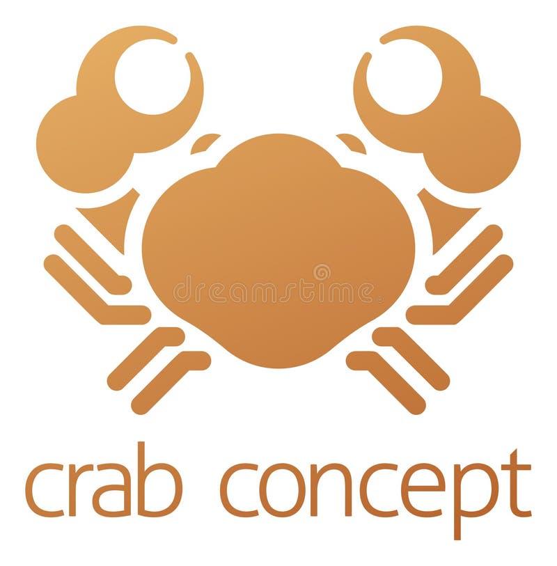 Crab Icon Concept vector illustration