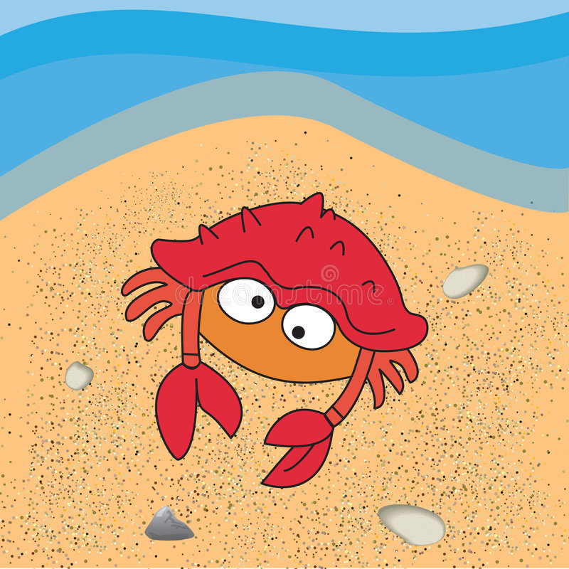 Crab illustration royalty free stock photos