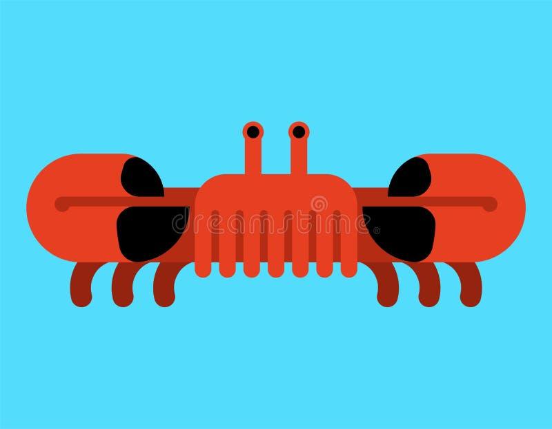 Crab isolated. Ocean cancer. Marine animal Vector illustration royalty free illustration