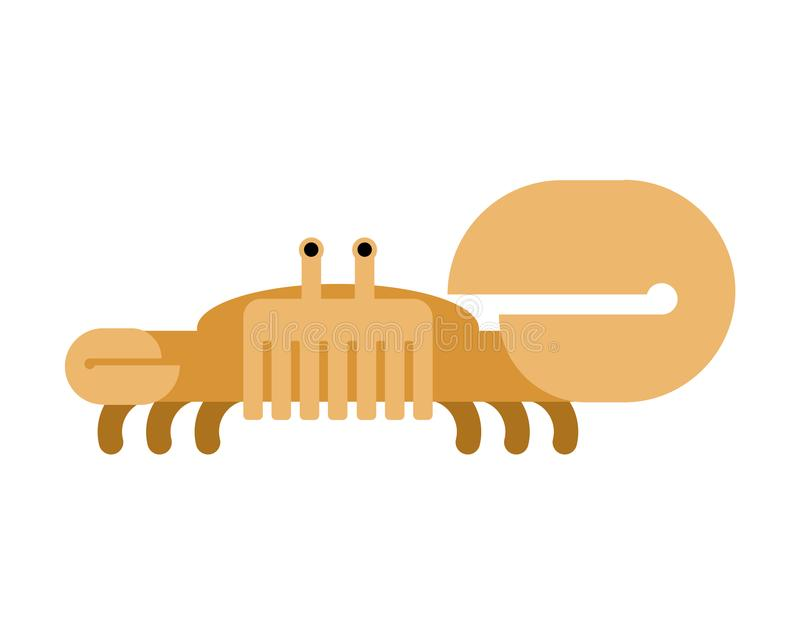 Crab isolated. Ocean cancer. Marine animal Vector illustration.  stock illustration