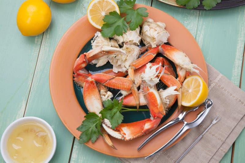 Crab Legs Appetizer stock photo