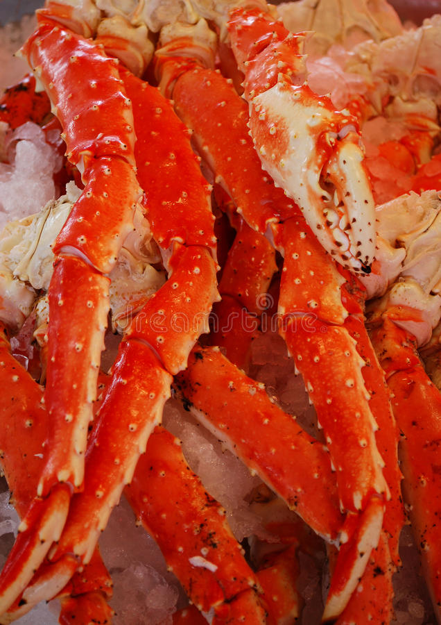 Crab Legs stock image