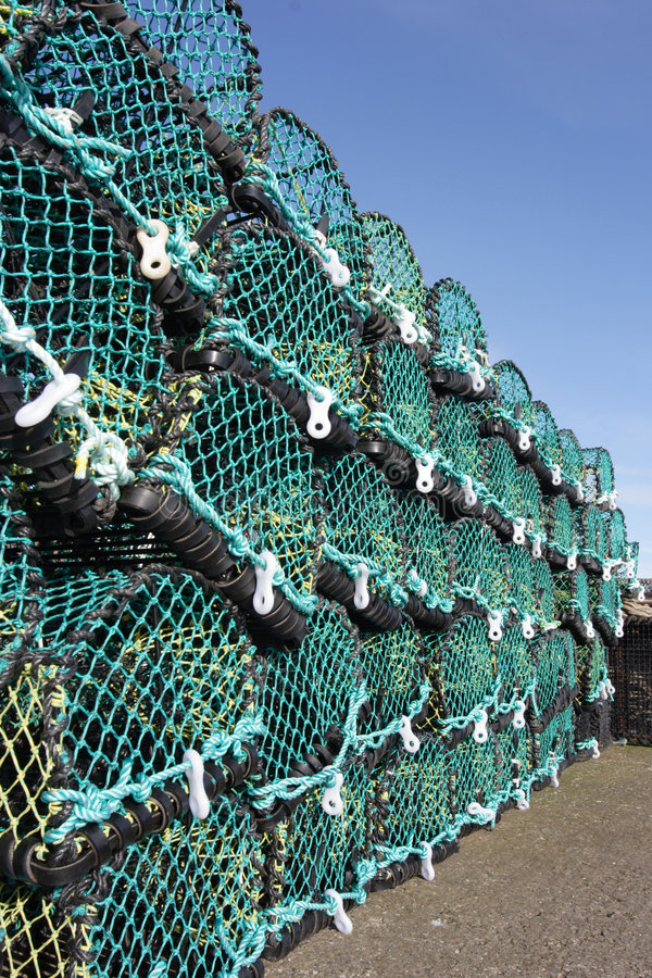 Crab and lobster pots royalty free stock photo