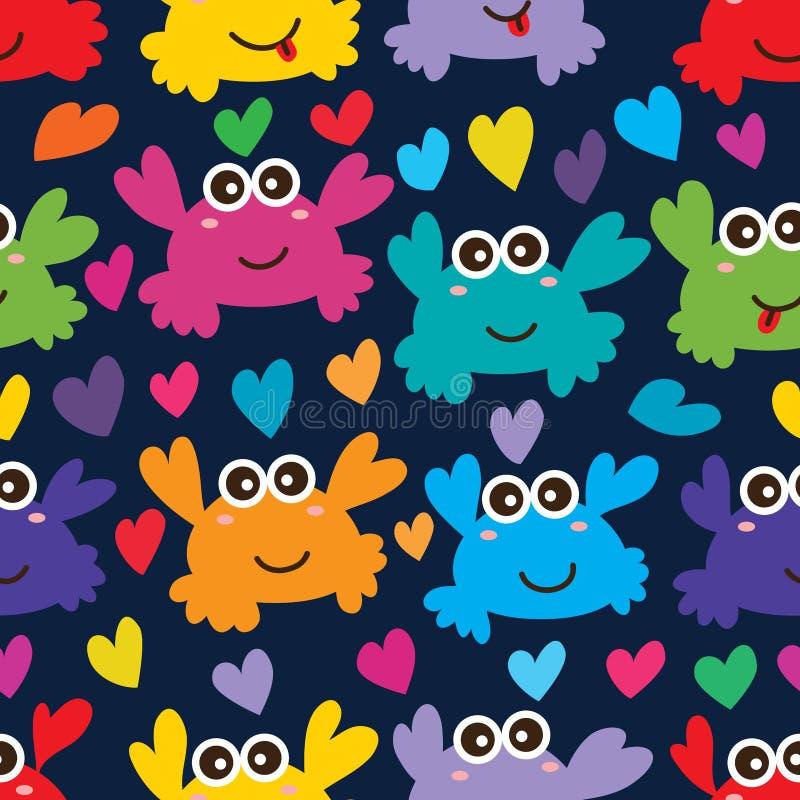 Crab love seamless pattern royalty free illustration