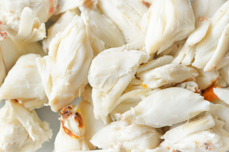 Crab meat stock images
