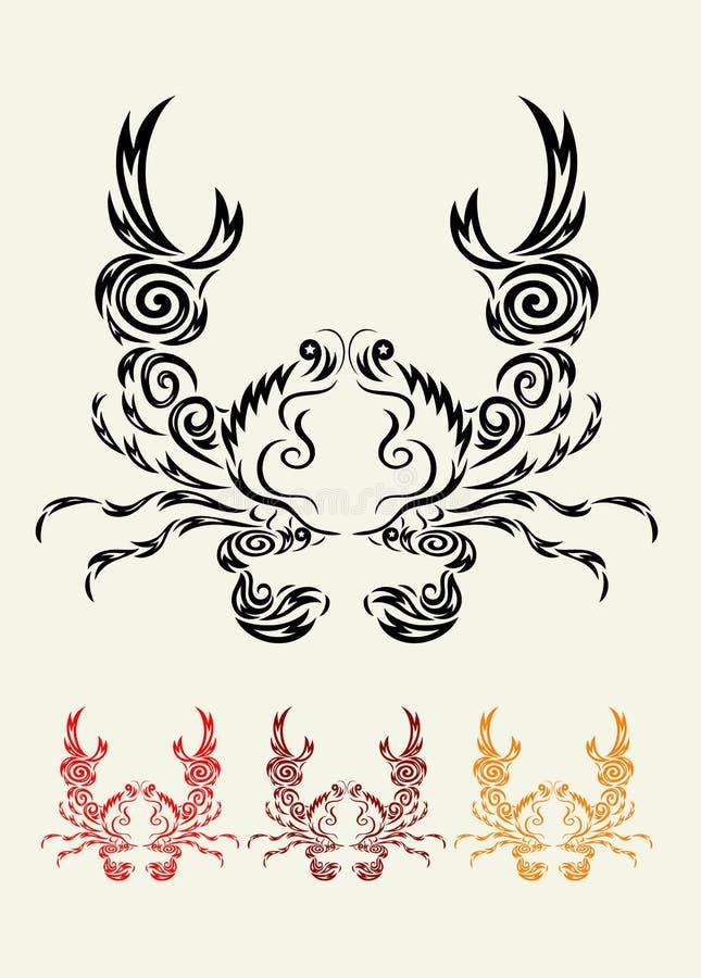 Download Crab ornament stock vector. Illustration of ornate, clip - 42185254