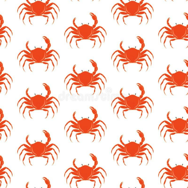 Crab pattern stock illustration