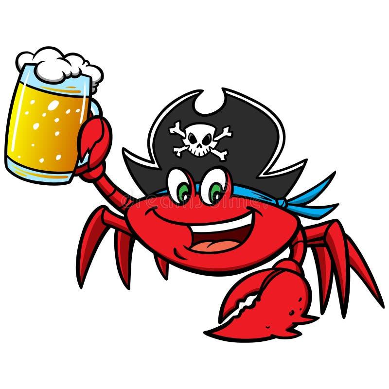 Crab Pirate royalty free illustration