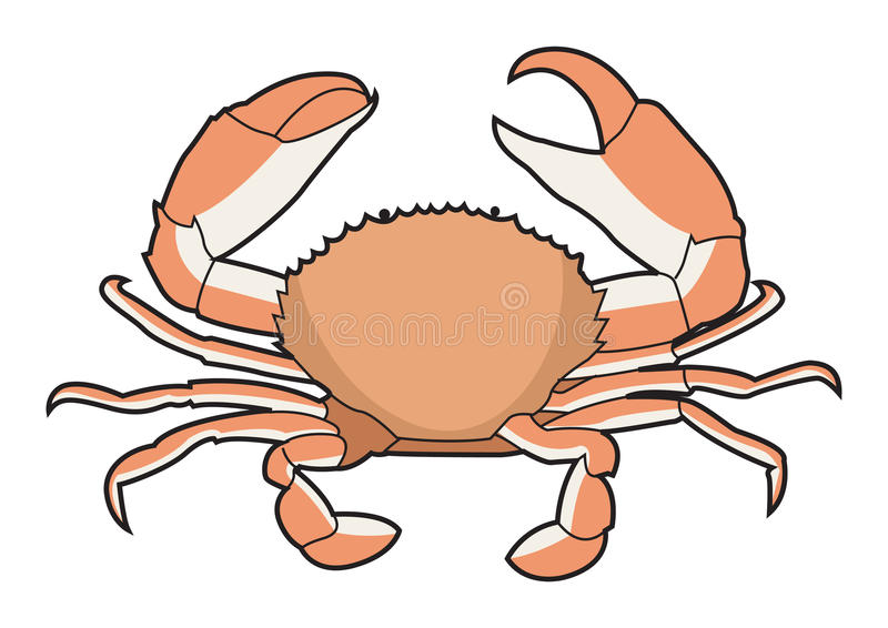 Crab for Sea Food Illustration vector illustration