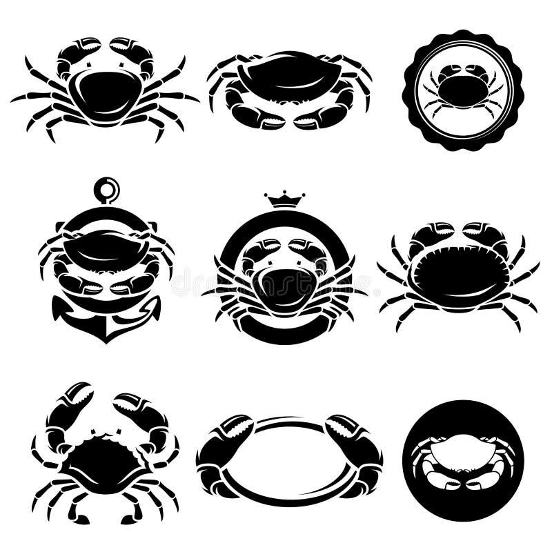 Crab set. Vector vector illustration