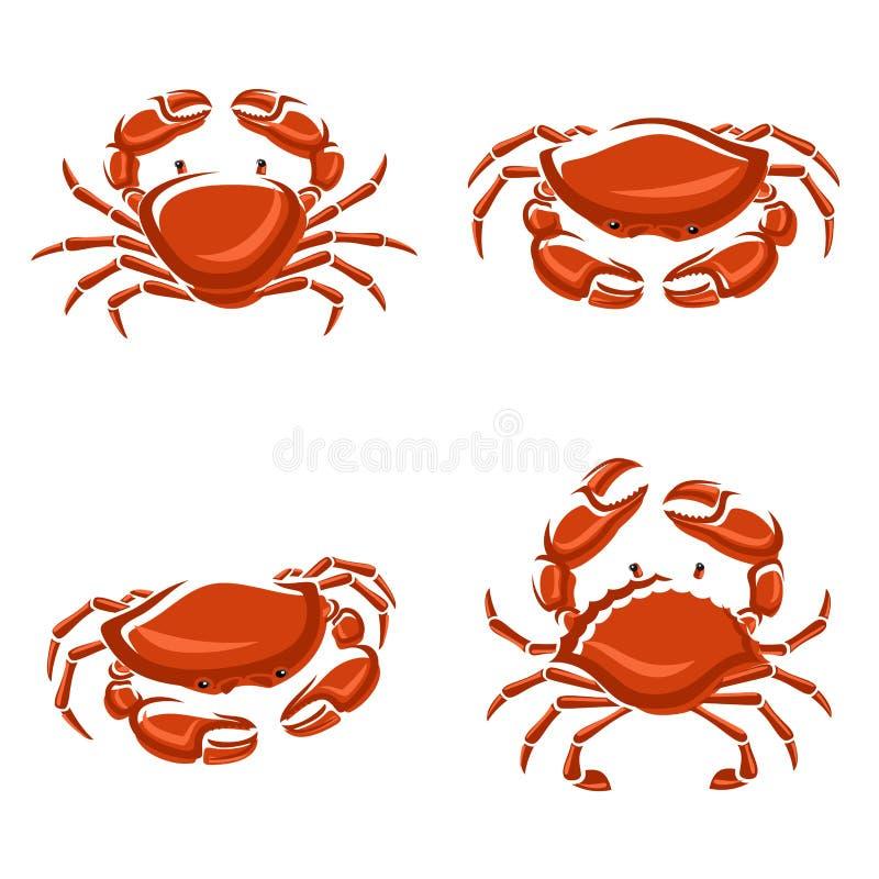 Crab set. Vector royalty free illustration