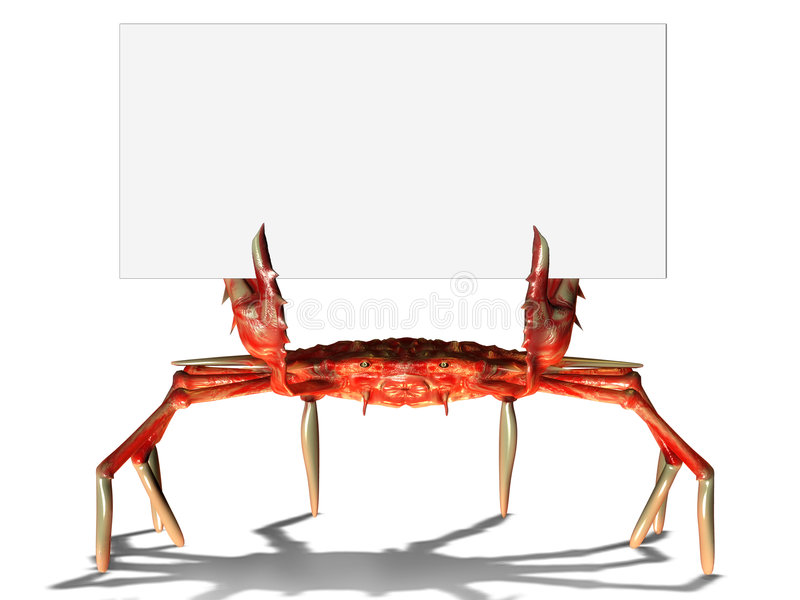 Download Crab with sign stock illustration. Image of advertising - 5464651