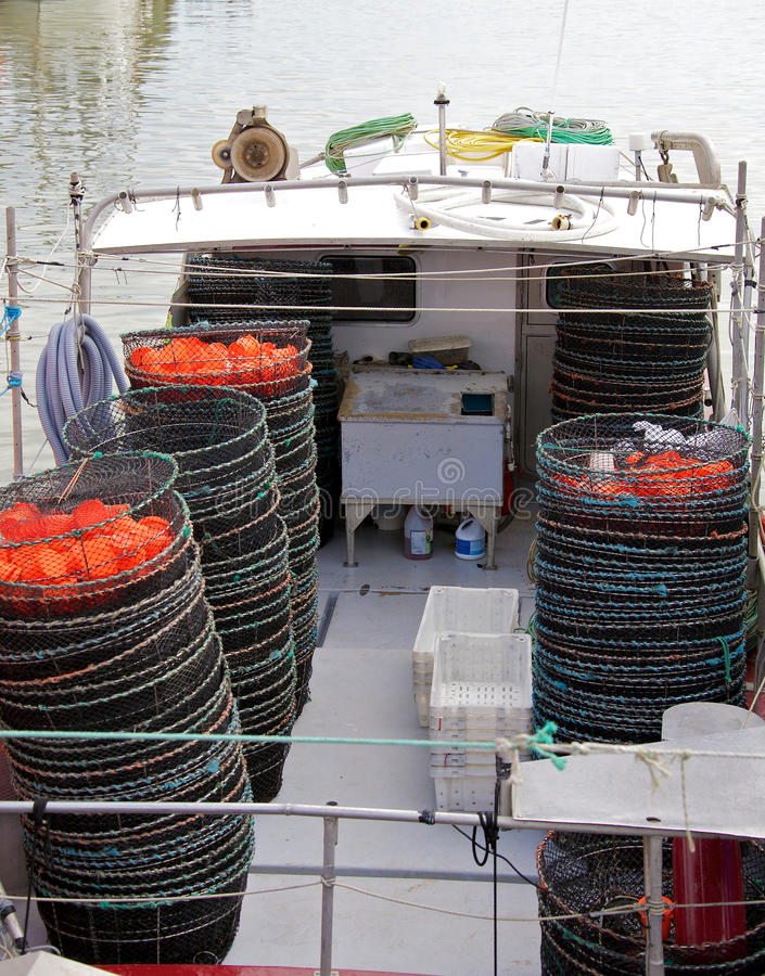 Crab Traps Royalty Free Stock Photos