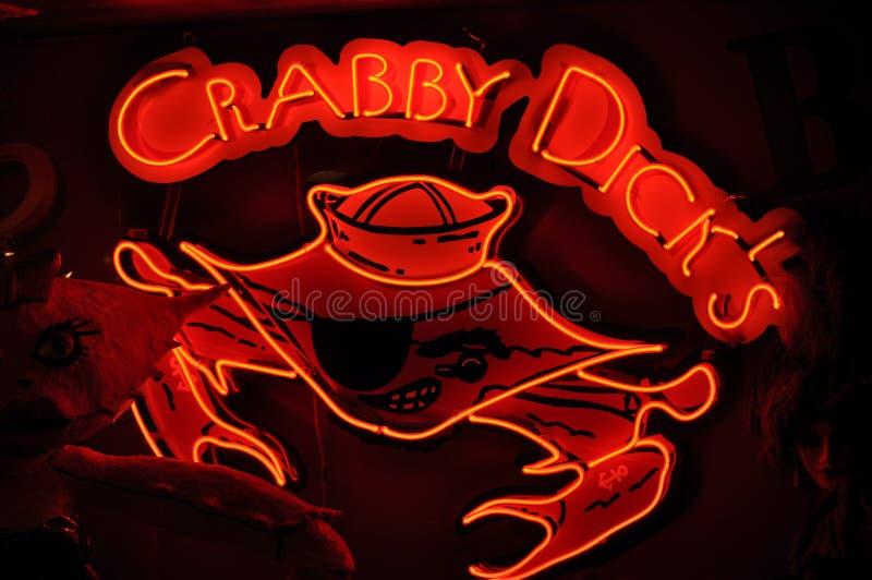 Crabby deckare royaltyfria bilder