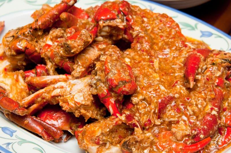 Crabe épicé délicieux de /poivron chaud photos stock