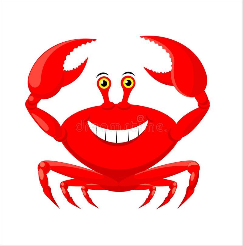 Crabe illustration de vecteur
