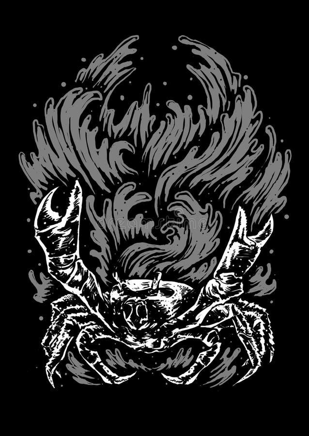 Crabe Art Illustration illustration de vecteur