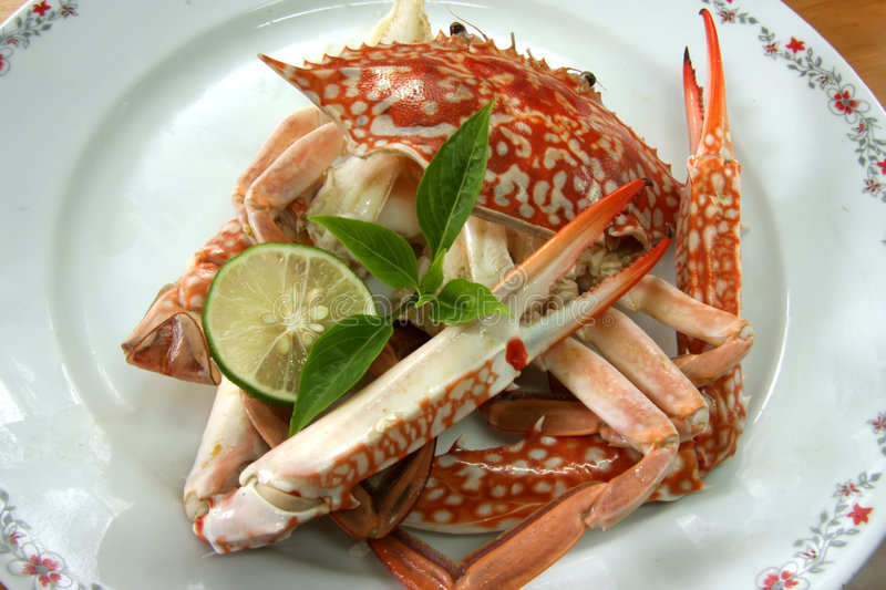 Crabe cuit images stock