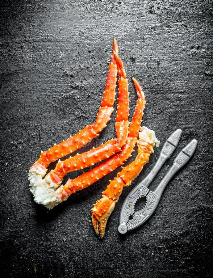 Crabe cuit de mer images stock
