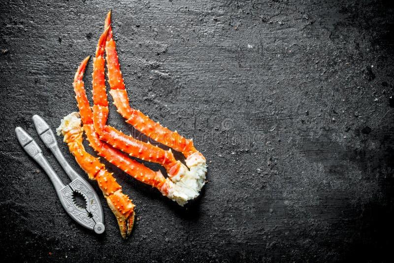 Crabe cuit de mer photo libre de droits