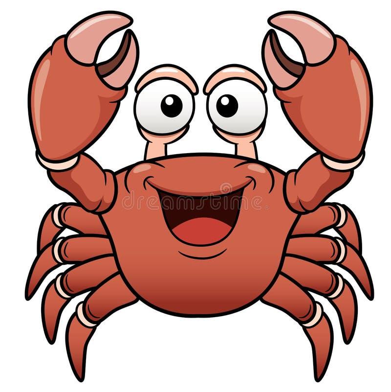 Crabe de bande dessinée illustration libre de droits