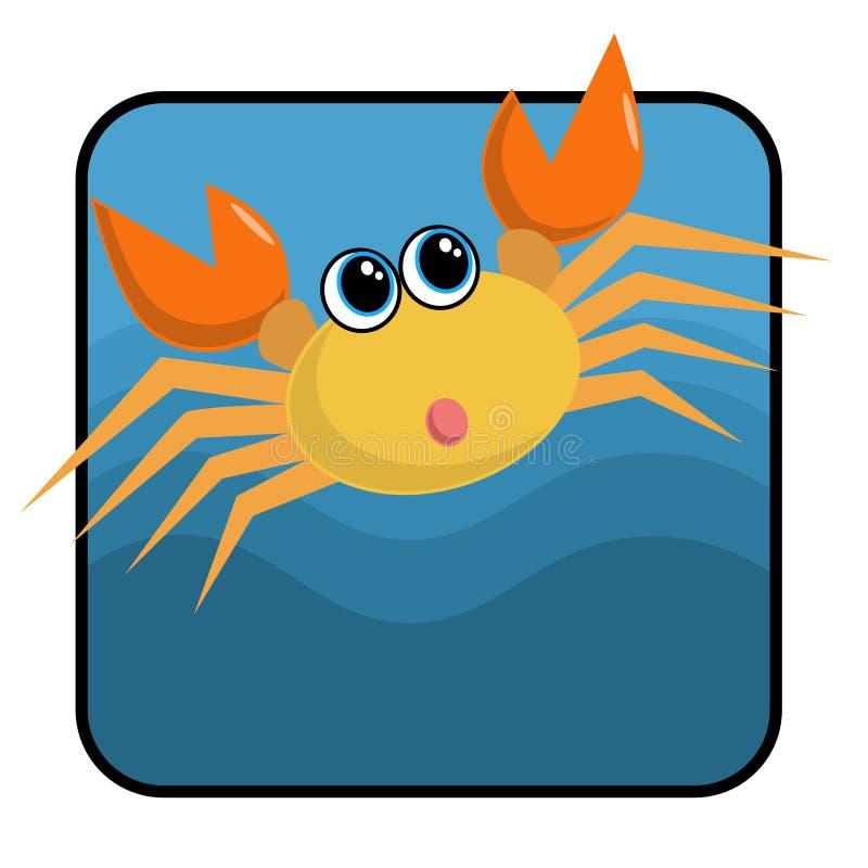Crabe de dessin animé illustration stock