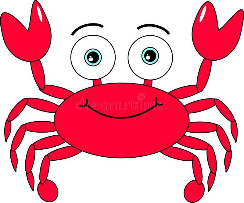 Crabe de dessin animé photo stock