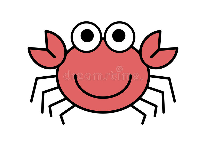 Crabe de dessin animé illustration de vecteur