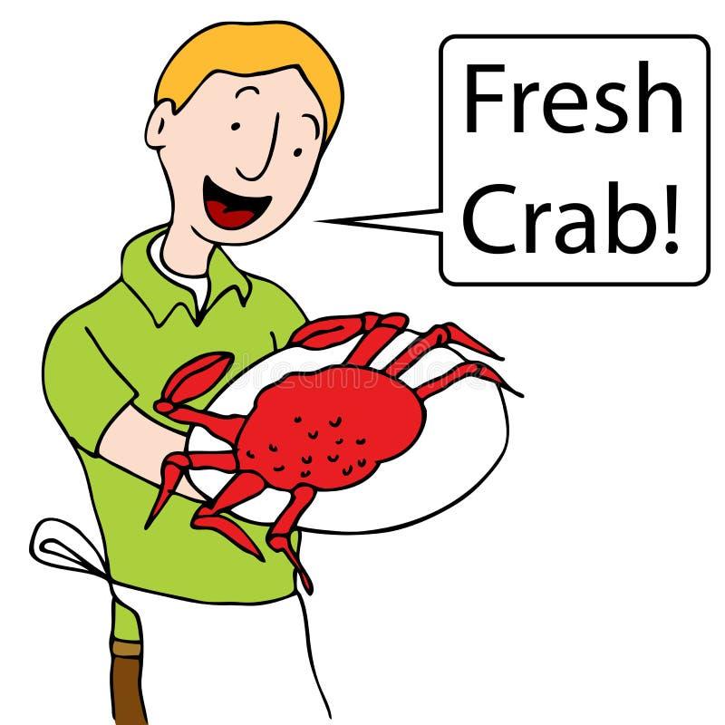 Crabe de portion de serveur illustration stock