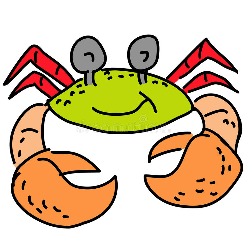 Crabe de sourire illustration stock
