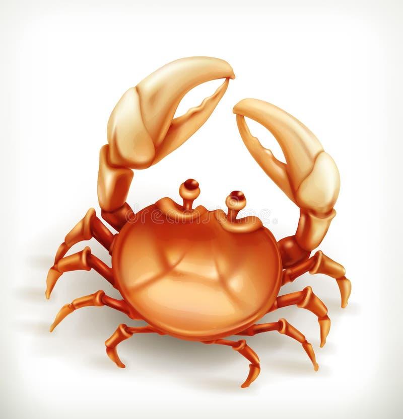 Crabe drôle, icône de vecteur illustration de vecteur