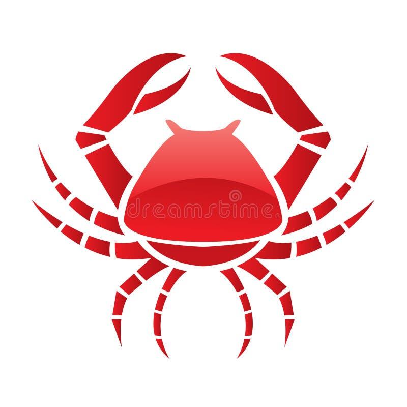 Crabe lustré rouge illustration libre de droits
