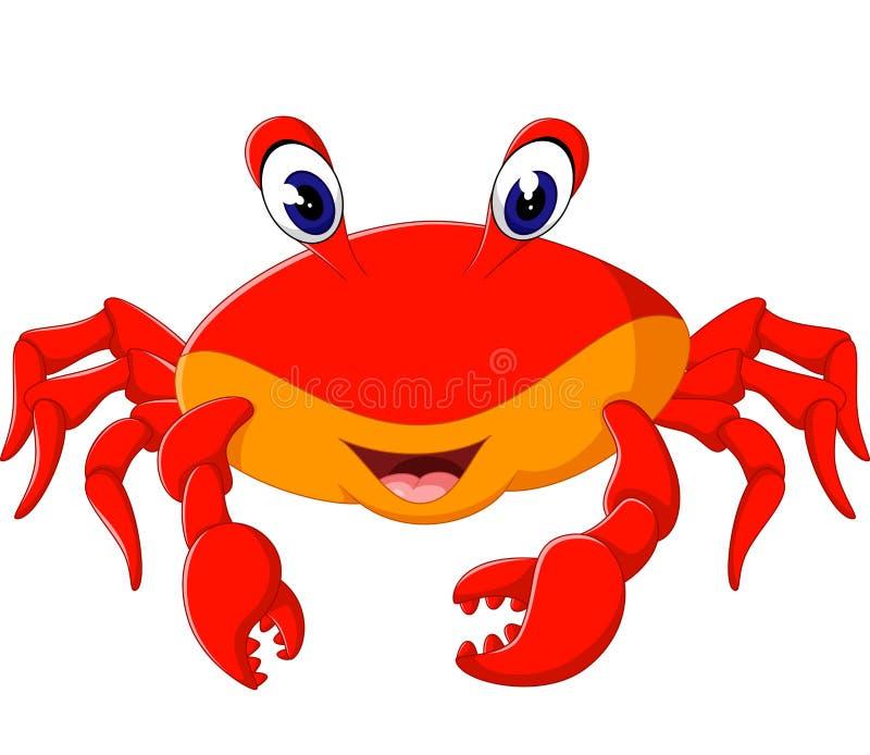 Crabe mignon illustration libre de droits