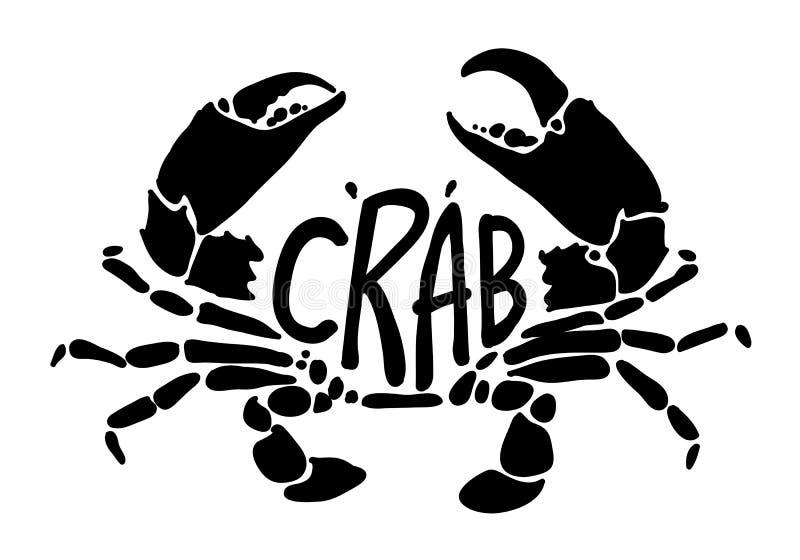 Crabe noir, vecteur illustration de vecteur