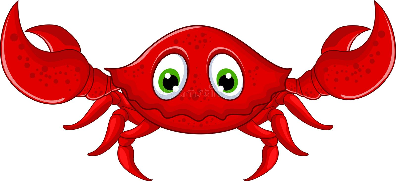 Crabes drôles de bande dessinée illustration de vecteur