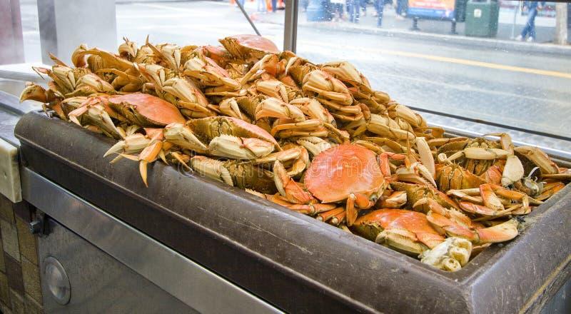 Crabes géants dans le quai du pêcheur, San Francisco images libres de droits