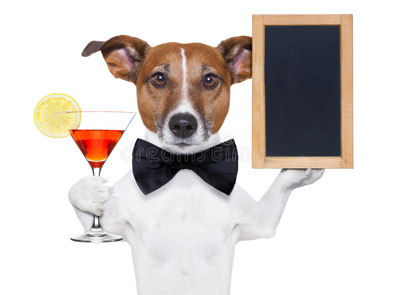 Crabot de cocktail avec le tableau noir photographie stock