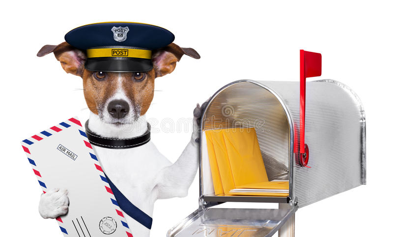 Crabot de courrier photo stock