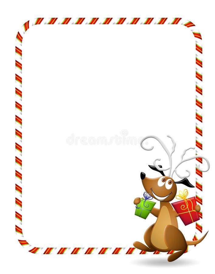 crabot de Noël de fond illustration stock