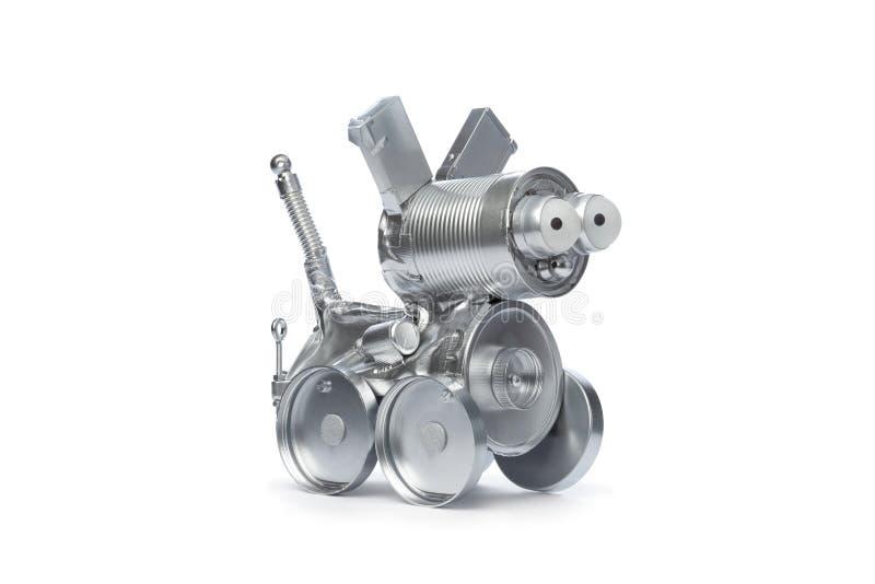 Crabot de robot de bidon photographie stock libre de droits