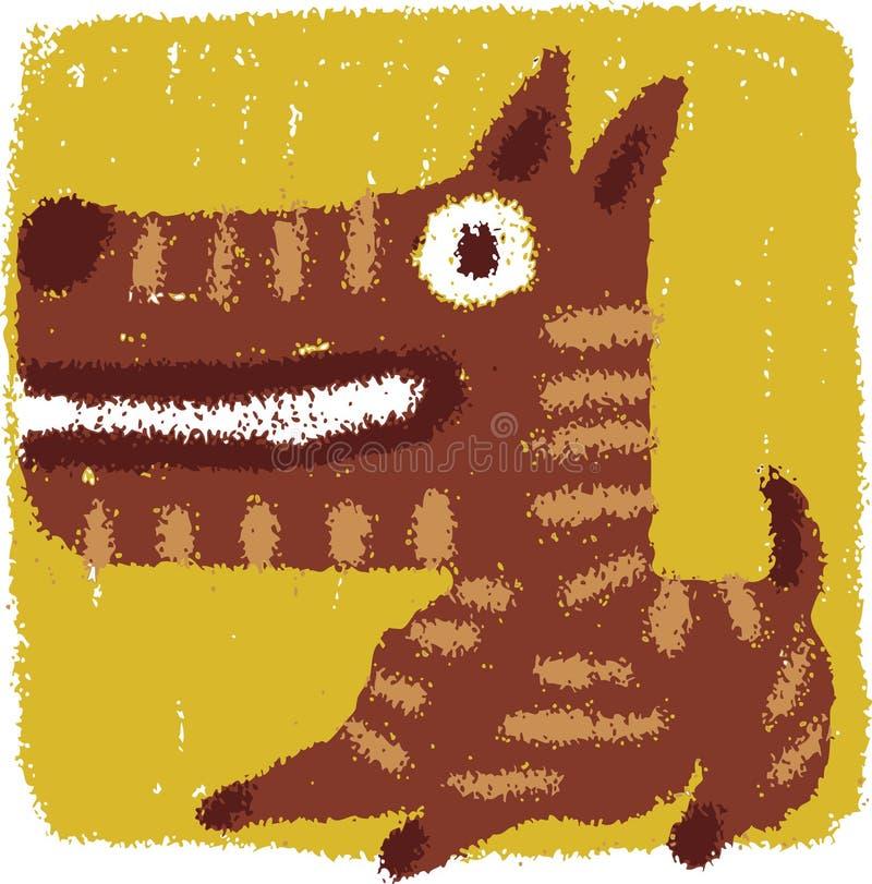 Crabot grossier illustration stock