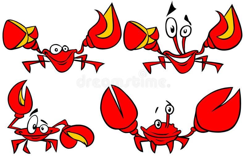 crabs смешной комплект иллюстрация штока
