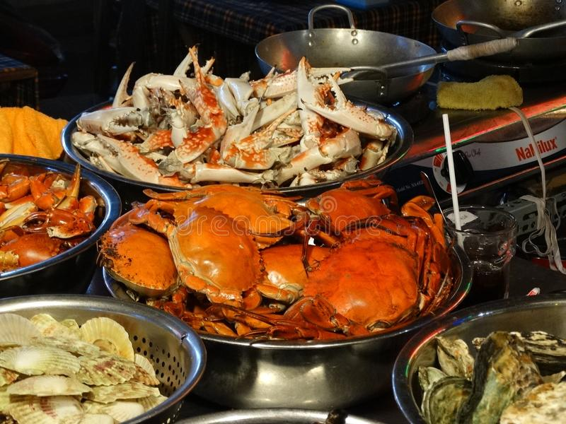 Crabs and other seafood stock images