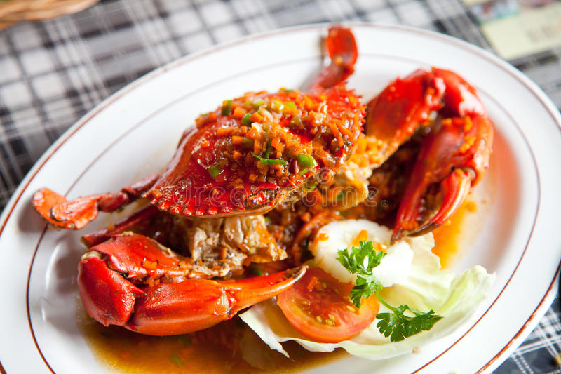 Download Crabs with spicy sauce stock image. Image of cooking - 25771011