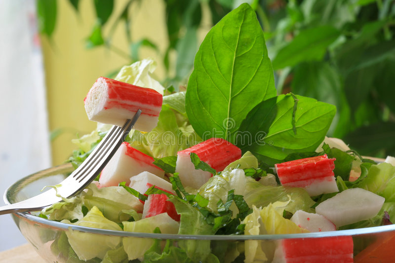 Crabstick royalty free stock images