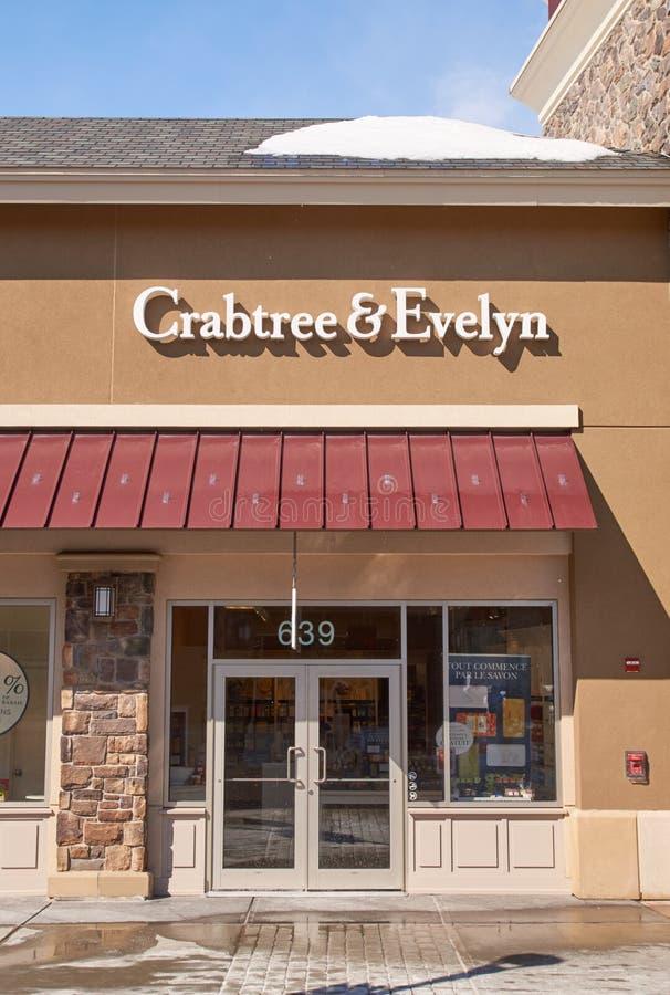 Crabtree en de afzet van Evelyn stock foto's