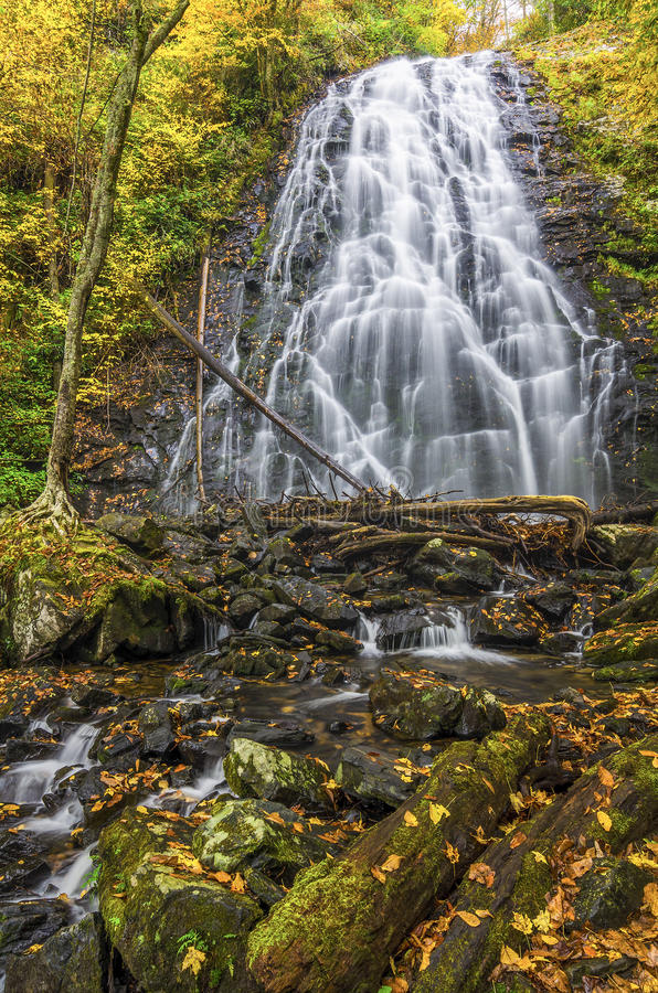 Crabtree Falls, Blue Ridge Parkway, North Carolina stock photo