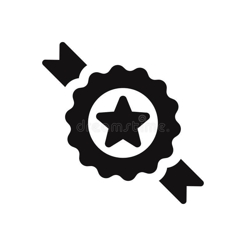 Crachá com ícone do vetor da estrela ilustração stock