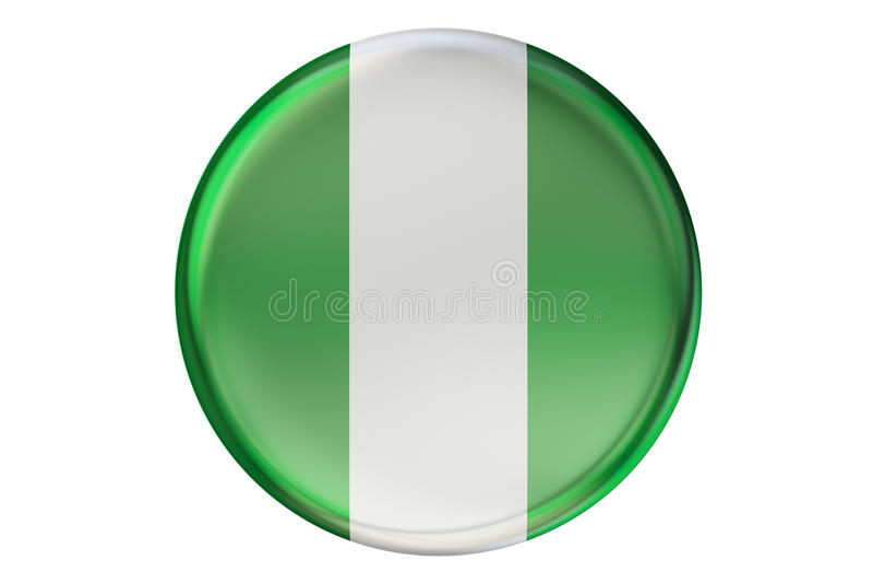 Crachá com a bandeira de Nigéria, rendição 3D ilustração do vetor